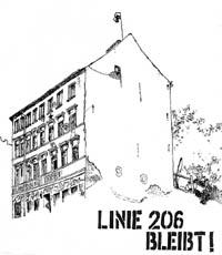 linie 206 bleibt